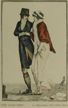 skating from Journal des Dames et des modes La Mesangere Paris about 1800
