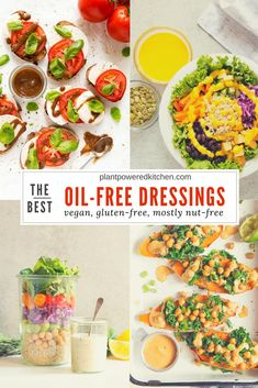OIL-FREE salad dressings and sauces - all vegan, gluten-free, and mostly nut-free. Readers LOVE these! Filed under: vegan recipes Best Vegan Recipes, Vegan Dinner Recipes, Vegan Dinners, Gluten Free Recipes, Whole Food Recipes, Vegetarian Recipes, Cooking Recipes, Healthy Recipes, Healthy Sauces