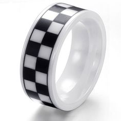Top quantiy jewellry pure ceramic Rings latticed black and white USA size 7/8/9/10/11 new arrival 230 * To view further for this item, visit the image link.