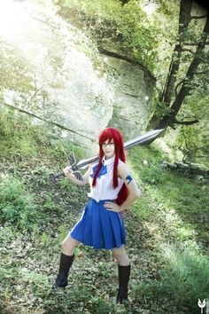 Fairy Tail. Character: Erza Scarlet. Version: Casual Outfit .Cosplayer: Yuuko Scarlet. From: France. 2016.