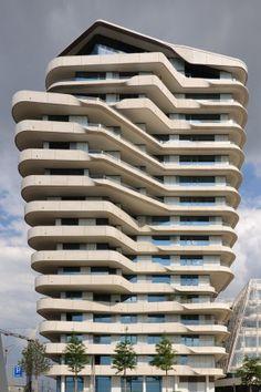 Marco Polo Tower, Behnisch Architekten, Enric Miralles & Benedetta Tagliabue EMBT   Hamburg   Germany  