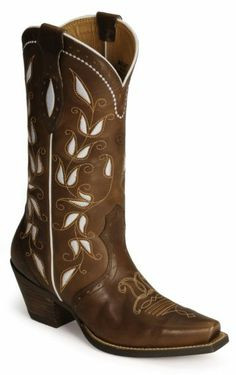 Because the white flowers in these boots make me happy