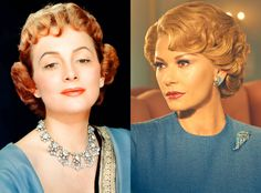 Catherine Zeta Jones and Olivia de Havilland from Feud: Bette and Joan Transformations: See How Much the Cast Looks like the Real-Life Figures
