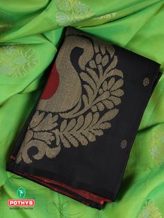 An excellent handcrafted silk saree with huge peacock motif on the body demands attention. An artistic and tradition filled saree that would instantly make you attractive in any event. Wear the luxury and experience the pride. #ethnicsarees #ethnicty #silksaree #puresilk #saree #traditionalsaree #sareedesigns #sareestyles #weddingsaree #sareeaesthetics #sareelove #sareelooks #sareeforteenagers #blouse #blousestyles #blousedesigns #black #green #sareeembroidery #luxurysaree #bestsarees