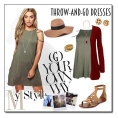 """""""Throw and go dress 3"""" by fashion-film-fun ❤ liked on Polyvore featuring Boohoo, Tory Burch, Vince Camuto, WearAll, Reiss, H&M, Madewell and Polaroid"""