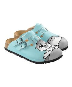 9f0d5c4bd467 Take a look at this Light Blue Lu Seal Kay Mule - Women by Birki s on today!