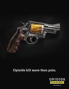 Cuyahoga County Opioid Marketing Task Force Print Ad - Know the Rx Gun Clever Advertising, Advertising Poster, Advertising Design, Great Ads, Communication Art, Ads Creative, Advertising Photography, Ad Design, Graphic Design