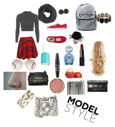 """""""School tomorrow"""" by styleislife235 on Polyvore featuring Vans, Topshop, Marc Jacobs, NARS Cosmetics, Essie, NYX, Eos, Milani, Frenchi and Chloé"""