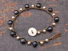 Solo Wrap Pulsera de Crochet perlas perlas de por JunaMoonJewelry