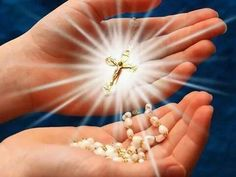 Rosary Prayer, Praying The Rosary, Holy Rosary, Prayer Quotes, Jesus Quotes, Mary In The Bible, Good Morning Happy Sunday, Cross Pictures, Online Prayer