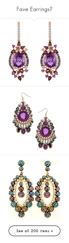 """""""Fave Earrings💛"""" by moon-and-starss ❤ liked on Polyvore featuring jewelry, earrings, brincos, yellow gold drop earrings, le vian earrings, drop earrings, fine jewelry, colorful earrings, chandelier earrings and earring jewelry"""