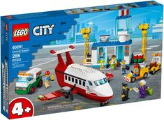 Building Toys For Kids, Lego Building, Lego City Sets, Lego Sets, Dodge Charger, Lego City Airport, Construction Lego, Free Lego, All Lego