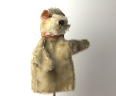 vintage steiff dog hand puppet spotted by thevintagejunkie on Etsy