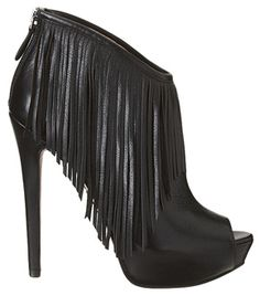 """Boutique 9 """"Charmaine"""" Fringed Peep-toe Booties"""