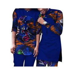 Dashiki African Clothing Matching Style For Couple Men and Women Top-Pants Couples African Outfits, African Dresses Men, African Shirts, Latest African Fashion Dresses, African Men Fashion, Fashion Women, African Wedding Attire, African Attire, African Wear Styles For Men
