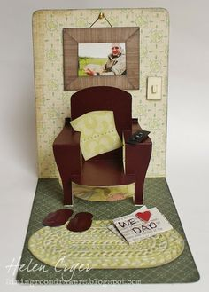 The Dining Room Drawers: Pop 'n Cuts Chair Father's Day Card