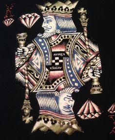 Avirex King Of Diamonds Playing Card T Shirt Tee EUC Black L Cotton Gently Used #Avirex #GraphicTee #Kingofdiamonds #Playingcard #Hiphop #Rapper #Urbanstreetwear