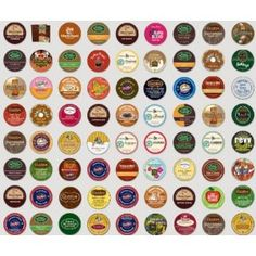 The Coffee Mix's Fabulous 35 K-cup Sampler Pack, You Are Guaranteed 35 Different K-cup Flavors, Flavored Coffees, Extra Bolds, Teas, Hot Cocoas, Apple Ciders, Iced Coffees, Iced Teas, Decafs Etc...