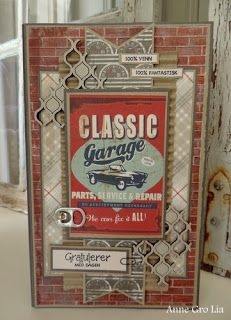 min lille scrappe-verden: Nytt DT-medlem for Scrappiness! Diy Paper, Paper Art, Paper Crafts, Cards For Men, Car Card, Diy Cards, Men's Cards, Dere, Beautiful Handmade Cards
