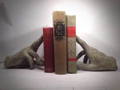 Concrete hand book ends by Frankgoods on Etsy
