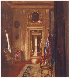 Blenheim | Oxfordshire, England. Painting of the State Room at Blenheim Palace by Sir Winston Churchill who was born at Blenheim.