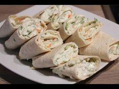Roulés / wraps aux surimi et fromage frais apéritif ultra rapide