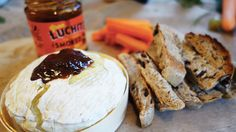 Baked camembert with smoked chilli honey. Perfect for entertaining!