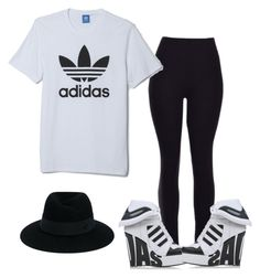 """Untitled #6372"" by tailichuns ❤ liked on Polyvore featuring adidas and Maison Michel"