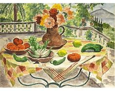 Fenouil, poivrons et tomates - de Segonzac Andre Dunoyer