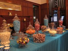 Blue blue candy table!