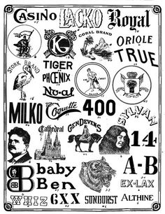 Vintage Logos ca. 1910.    From The Trade Mark News.  Published 1910-13.