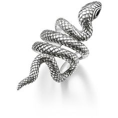 THOMAS SABO THOMAS SABO Sterling Silver Coiled Snake Ear Cuff ($105) ❤ liked on Polyvore featuring jewelry, earrings, rings, accessories, women's accessories, sterling silver jewelry, sterling silver ear cuff, thomas sabo jewellery, sterling silver jewellery and snake ear cuff earring