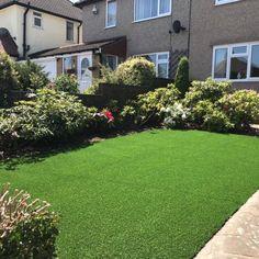 A Trulawn Luxury artificial grass lawn Artificial Grass Installation, Back Gardens, Stepping Stones, Sidewalk, Lawns, Luxury, Outdoor Decor, Ideas, Walkway