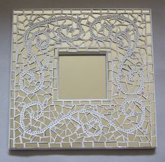 Mosaic Mirror and BB Framed Mirror Item Mirror Mosaic, Mosaic Art, Mosaic Glass, Stained Glass, Mosaic Crafts, Mosaic Projects, Cool Ideas, Mirrored Picture Frames, Mosaic Pieces