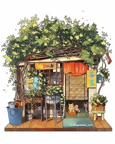 Cute Illustration, Watercolor Illustration, Digital Illustration, Building Painting, Building Art, Watercolor And Ink, Watercolor Paintings, Watercolor Architecture, Urban Sketching