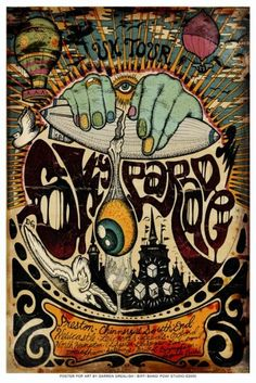 Psychedelic Rock poster by darrengrealish on Etsy, $30.00