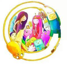 Finn the Human, Jake the Dog, Marceline, Princess Bubblegum, Lady Raincorn, Lumpy Space Princess, BMO, Tree Trunks, Peppermint Butler, Gunter, Ice King, Turtle Princess/ Adventure Time