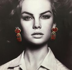 As the saying goes, when in doubt, wear red. Stephen Dweck one of a kind earrings.