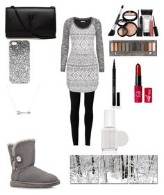 """Winter look"" by swiftie1318 on Polyvore featuring Max Studio, maurices, UGG Australia, Yves Saint Laurent, Topshop, Adina Reyter, Laura Geller, Urban Decay, Elizabeth Arden and Essie"