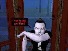 DK: I vant to suck your blood!  #gothic #sims #webcomic #goths #punks #vampires #ivanttosuckyourblood #courtleymanor