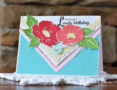 Lovely Birthday Card by Amy Sheffer for Papertrey Ink (July 2015)