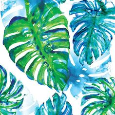 Jungle Print Canvas Art by Sweet William Wall Drawing, Plant Drawing, Painting Prints, Wall Art Prints, Canvas Prints, Paintings, Watercolor And Ink, Watercolor Flowers, Jungle Art