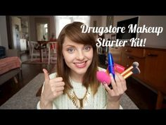 Drugstore Makeup Starter Kit | essiebutton @katieleona Watch this girl's videos, she's great!