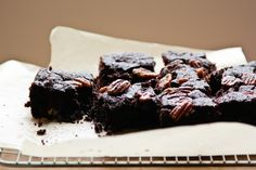 Salted Pecan and Bourbon Brownies