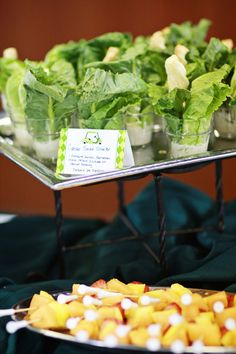Golf party food ideas-salad shooters- B. Lovely Events can you please visit www.roripon.com free adv all over world( may you joint member for free? please do) WWW.RORIPON.COM
