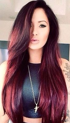 Resultado de imagen para rose gold hair dark hair