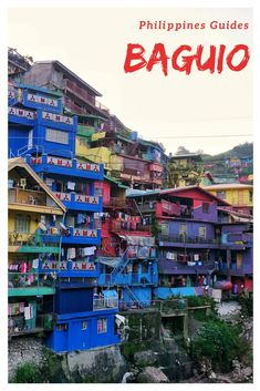 The mountain city of Baguio. Sunsets and colored houses. Although not a prime destination for tourists, the city of Baguio still has a few things to offer. Baguio Philippines, Philippines Travel Guide, Manila Philippines, Philippines Vacation, Philippines Culture, World Travel Guide, Asia Travel, Travel Guides, Vietnam Travel