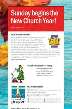 Sunday begins the New Church Year!