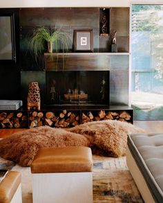 really like the metal (copper?) fireplace.