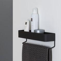 Sealskin Brix Regal mit Handtuchhalter Metall Schwarz – Dekor… Sealskin Brix Shelf with Towel Holder Metal Black – Decor … #